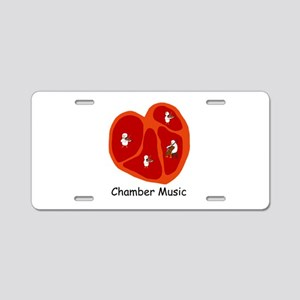 Chamber Music Aluminum License Plate