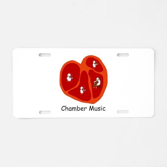 Chamber Music Aluminum License Plate