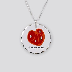Chamber Music Necklace Circle Charm
