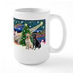 Xmas Magic/2 Labs (Y+B) Large Mug