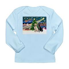 Xmas Magic/2 Labs (Y+B) Long Sleeve Infant T-Shirt