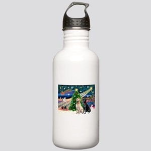 Xmas Magic/2 Labs (Y+B) Stainless Water Bottle 1.0