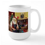 Santa's 2 Black Labs Large Mug