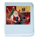 Santa's 2 Black Labs baby blanket