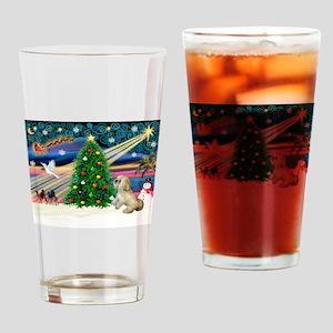 XmasMagic/ Lhasa Apso Drinking Glass