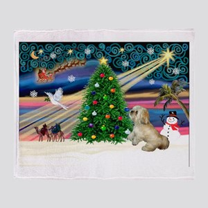 XmasMagic/ Lhasa Apso Throw Blanket