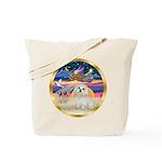 XmasStar/ Maltese # 11 Tote Bag