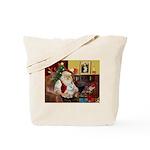 Santa's Maltese Tote Bag