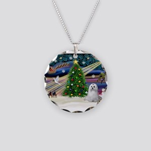 XmasMagic/Maltese (#9) Necklace Circle Charm