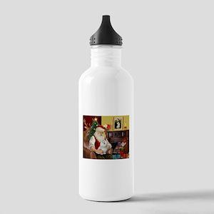 Santa's Maltese Stainless Water Bottle 1.0L
