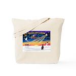XmasSunrise/Min Pinscher Tote Bag