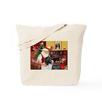 Santa's Newfie (L) Tote Bag