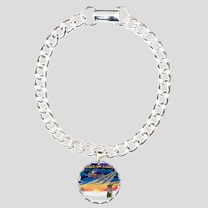 XmasSunrise/Norwegian Elk Charm Bracelet, One Char