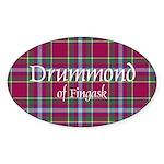 Tartan - Drummond of Fingask Sticker (Oval 50 pk)
