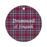 Tartan - Drummond of Fingask Ornament (Round)