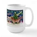 XmasStar/Nova Scotia dog Large Mug