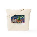 XmasStar/Nova Scotia dog Tote Bag