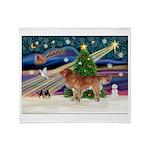XmasStar/Nova Scotia dog Throw Blanket