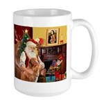 Santa/Nova Scotia Dog Large Mug