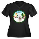 Old English Sheepdog Women's Plus Size V-Neck Dark