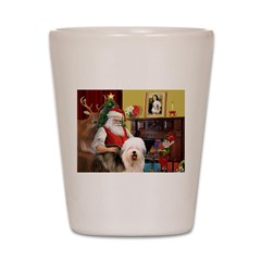 Santa's Old English #5 Shot Glass