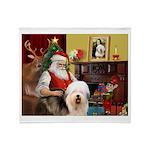 Santa's Old English #5 Throw Blanket