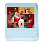 Santa's Old English #5 baby blanket