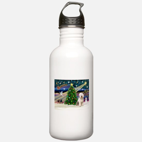 XmasMagic/Old English #6 Water Bottle