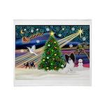 Xmas Magic/Papillon (#1) Throw Blanket