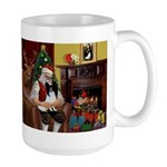 Santa's Papillon Large Mug
