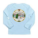 XmasMusic1MCL/Papillon Long Sleeve Infant T-Shirt
