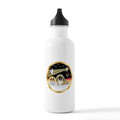 Wisemen/Pekingese Water Bottle