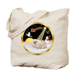 Night Flight/Pekingese Tote Bag