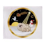 Night Flight/Pekingese Throw Blanket