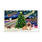 XmasMagic/Pekingese (red) 22x14 Wall Peel