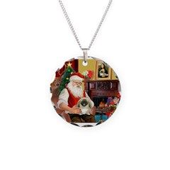 Santa's Pekingese (#1b) Necklace