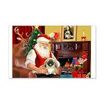 Santa's Pekingese (#1b) 22x14 Wall Peel