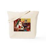 Santa's Pekingese (#1b) Tote Bag