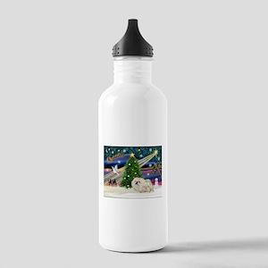 XmasMagic/Pekingese (4w) Stainless Water Bottle 1.