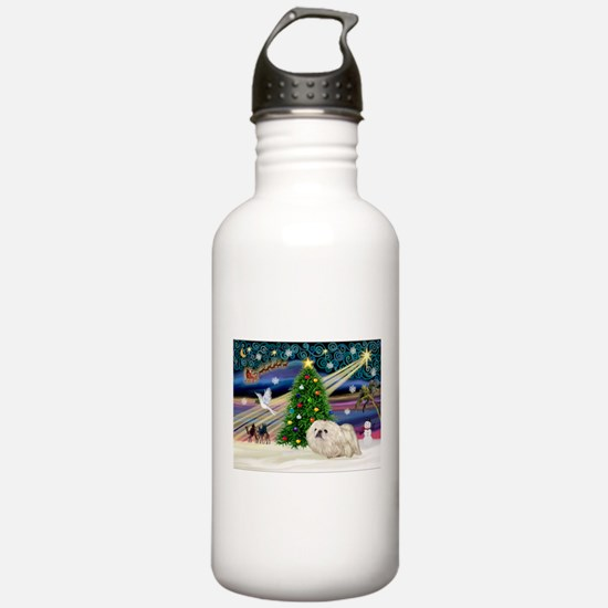 XmasMagic/Pekingese (4w) Water Bottle