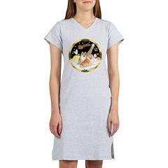 Night Flight/2 Pomeranians Women's Nightshirt