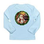 Santa's Pomeranian #1 Long Sleeve Infant T-Shirt