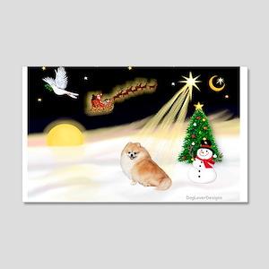 Night Flight/Pomeranian 22x14 Wall Peel