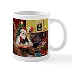 Santa's Pomeranian (bw) Mug