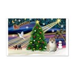 Christmas Magic & Pomeranian 22x14 Wall Peel