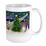 Christmas Magic & Pomeranian Large Mug