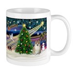 Christmas Magic & Pomeranian Mug