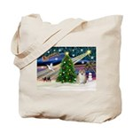 Christmas Magic & Pomeranian Tote Bag