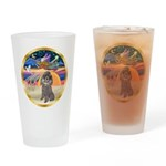 XmasStar/Silver Poodle #8 Drinking Glass