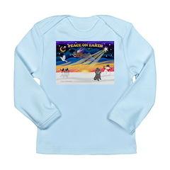 XmasSunrise/Poodle (min) Long Sleeve Infant T-Shir